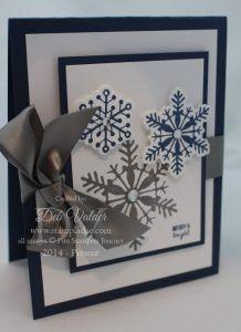 Deb Valder Fun Stampers Journey Snowflake card