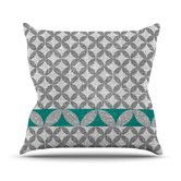 Found it at Wayfair - Diamond Turquoise by Nick Atkinson Throw Pillow