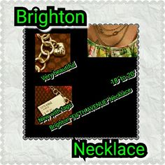 """BRIGHTON NECKLACE Brighton """"FIFTH AVENUE""""?Necklace?is a mixed chain link design measuring 18""""-20"""" adjustable with a lobster claw clasp closure and features etched bead stations accented with swarovski crystals Avenue Jewelry Necklaces"""