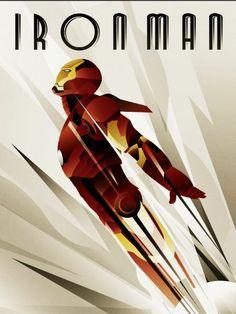 Art Deco Iron Man