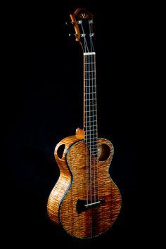 Custom Koa Kasha Ukuleles from luthier Eric Devine of Maui, Hawaii, Ukulele Instrument, Ukulele Art, Cool Ukulele, Tenor Ukulele, Guitar Art, Beautiful Guitars, Mandolin, Musical Instruments, Learning Music