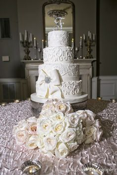 Wedding Cake in Randolph's Parlor @ Nottoway Plantation