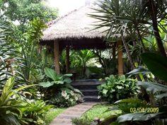 Balinese garden and gazebo