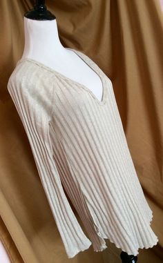 Make OFFER ❤️ Free People Beige Tunic Sweatet Size Medium Retail $68 | eBay