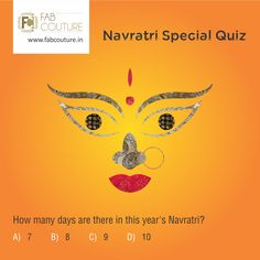 Here is next question of the Navratri quiz brought to you by Fab Couture team. So stay tuned, keep answering and sharing. Don't miss a chance to win the exciting prize from Fab Couture!. Good Luck! #FabCouture #LuckyDraw #Contest #DesignerDresses #Fabric #Fashion #DesignerWear #ModernWomen #Embroidered #WeddingFashion #WesternLook #affordablefashion #GreatDesignsStartwithGreatFabric