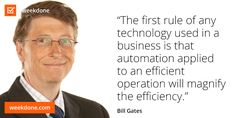 Bill Gates on technology and efficiency. #efficiency #motivation #gates