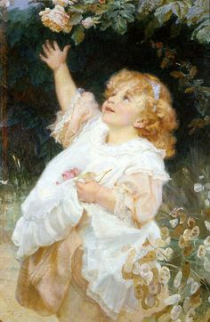 Out Of Reach-Frederick Morgan (1847 – 1927, English)