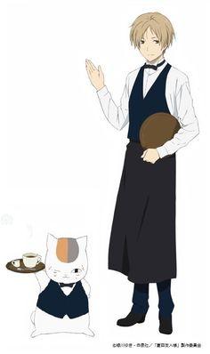 カフェ店員姿の夏目とニャンコ先生がお出迎え!『夏目友人帳』×アニマックスCAFEが開催! - にじめん