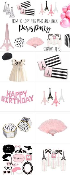Paris Party - Black and Pink Birthday Party Theme Ideas for Girls - M - Paris Pa. Paris Party – Black and Pink Birthday Party Theme Ideas for Girls – M – Paris Party – Black Birthday Outfit For Teens, Birthday Cakes For Teens, Girl Birthday Themes, Pink Birthday, Cake Birthday, Birthday Nails, Birthday Ideas, Happy Birthday, Birthday Wishes