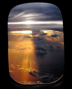 Beautiful View Out of an Airplane Window