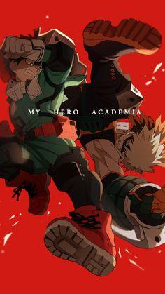 Deku and Bakugou My hero academia Comic Manga, Manga Anime, Anime Art, Boku No Hero Academia, Me Me Me Anime, Anime Guys, Iida, Afro Samurai, Best Superhero