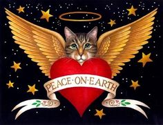 Peace on Earth Cat ~*~ Stephanie Stouffer