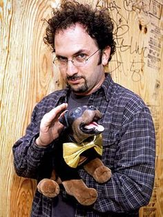 Robert Smigel with Triumph the Insult Dog