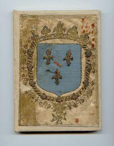 Reliure de soie aux armes de Louis II de Bourbon, Prince de Condé, le Grand Condé.