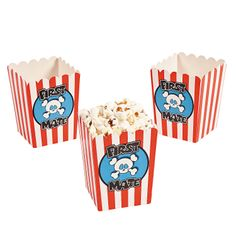"""First Mate"" Pirate Party Popcorn Boxes - OrientalTrading.com"