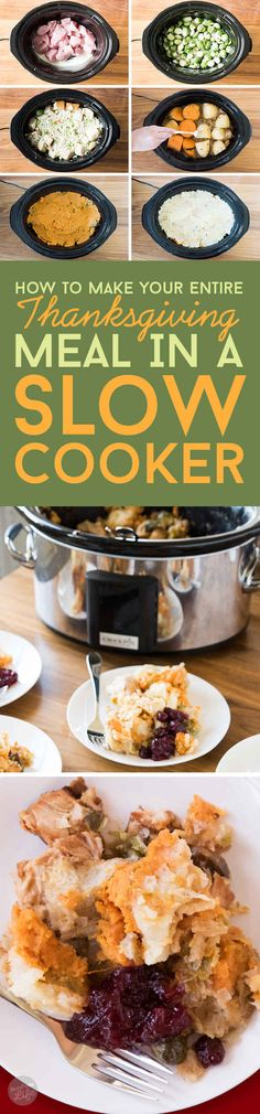 …you could make the entire dinner all at once in your slow cooker.