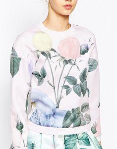 Ted Baker Sweatshirt in Distinguishing Rose Print