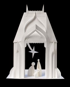 White Nativity - Paper Sculpture