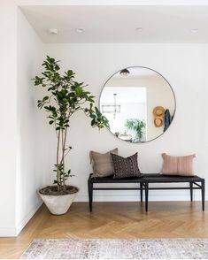 Besides tables, you can rely on benches as your house's entryway furniture. An entryway bench can be. bench decor 59 Entryway Bench Ideas that are Useful and Beautiful Small Entryway Bench, Entry Bench, Modern Entryway, Entryway With Bench, Modern Staircase, Entryway Furniture, Entryway Decor, Entryway Ideas, Hallway Ideas