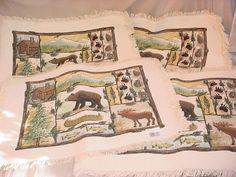 4 Placemats Donna Jensen Cabin Fever for Kay Dee Moose Bear Canoe Woods NEW #KayDeeDesigns Seller florasgarden on ebay