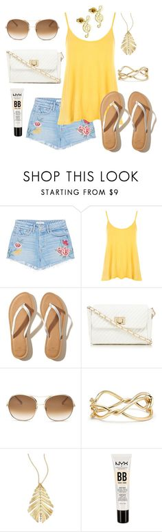 """BBQ with Friends"" by kathrina1yana2jemma3cloe4 ❤ liked on Polyvore featuring GRLFRND, WearAll, Hollister Co., Red Herring, Chloé, David Yurman, Hueb and NYX"