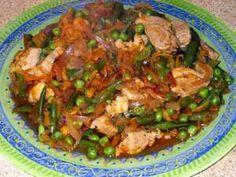 Нешлифованный рис с овощами. Фоторецепт