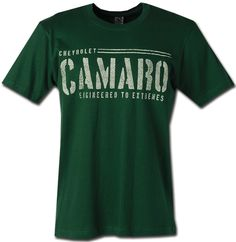 Camaro Engineered Green T-Shirt-Chevy Mall