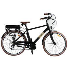 36V250 Watt Lithium Battery Electric City Bike Electric Bicycle Black Road Cycling