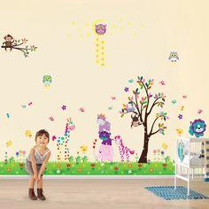 Honest Bird House Height Chart Scroll Tree Wall Stickers Vinyl Decal Kids Nursery Decor Soft And Light Wall Décor