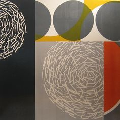 Mary Margaret Briggs: Rotate 1 2010, monotype collage on panel, 36 x 36, WOW