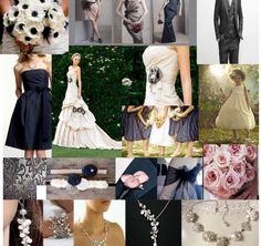 wedding blue blush charcoal color theme dress navy pink satin theme wedding Naby Blush Charcoal