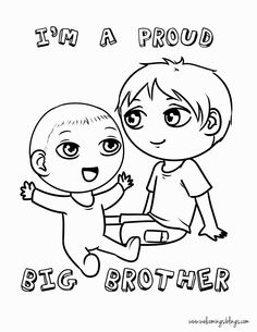 Im a Big Sister Printable | Big Sister Coloring Pages | Pinterest ...