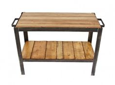 """heavy duty american industrial factory machine shop angled steel """"parts washer"""" station repurposed into a two-tier side table - Vintage Industrial Tables - Furniture - Products"""