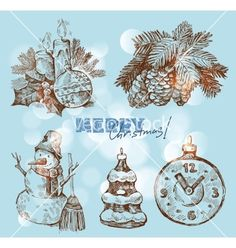 Christmas and happy new year vector - by bioraven on VectorStock®