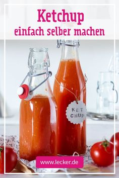 Ketchup selber machen – so geht's Make ketchup yourself? A brilliant one Because then you decide on your own how much sugar you use. Salmon With Cream Sauce, Sauce For Salmon, Mushroom Cream Sauces, Tomato Cream Sauces, Ultimate Grilled Cheese, Fish Taco Sauce, Chili Pasta, Chili Cheese Dips, Easy Fish Tacos