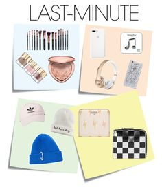 """""""#PolyPresents: Last-Minute Gifts"""" by styledbyiris on Polyvore featuring Post-It, M.O.T.D Cosmetics, Too Faced Cosmetics, Smith & Cult, Happy Plugs, adidas, Mudd, TIBI, Comme des Garçons and FOSSIL"""