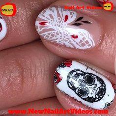 The Best Nail Art Designs Compilation New Nail Art, Cool Nail Art, Youtube Nail Art, Newspaper Nails, Nails 2018, Nail Art Videos, Best Nail Art Designs, Chrome Nails, Marble Nails