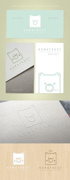 Kumatoast Logo Template PSD, Vector EPS, AI. Download here: http://graphicriver.net/item/kumatoast-logo-template/15399367?ref=ksioks