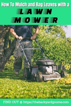 We teach you how to collect and mulch fallen leaves with a lawn mower. Fall Clean Up, Spring Projects, Spring Is Coming, Lawn Mower, Compost, Good To Know, Outdoor Power Equipment, Backyard, Leaves