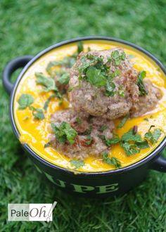 soupe potiron et boulettes de boeuf au fenouil