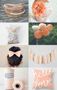 Peaches n' cream by Jen Stilley on Etsy--Pinned with TreasuryPin.com