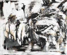 painting, oil on paper © Cornelia Brizsak 2014 Moose Art, Oil, Abstract, Paper, Artwork, Painting, Animals, Animales, Work Of Art
