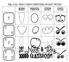 Roll a Creepy Carrot - my students thought this was too funny!