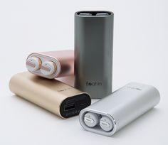 PowerBank(スマホ充電器・兼用モデル)| 洗練されたデザインでハンズフリー通話も可能。モバイルバッテリーにもなる完全コードレスイヤホン|Beat-in PowerBank