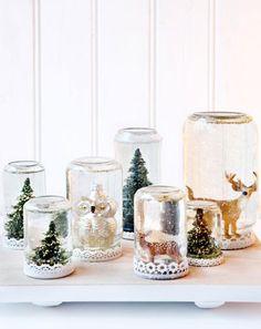 Foto: Zelf maken: glazen pot wordt sneeuwbol.. Geplaatst door MSW op Welke.nl