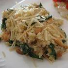 Quinoapilaf met spinazie en kaas