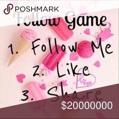 Follow Game! Please help me reach 20,000! Please help me reach 20,000 followers. Like, follow and share 💕💕 Accessories