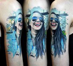 Realism tattoo on shoulder by Vladislav Tokmenin