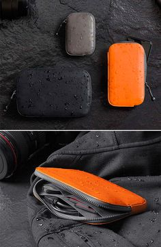 The All-Conditions Collection from Bellroy is built to withstand the worst weather and all sorts of environmental exposure that would ruin the average wallet and all its contents. Constructed of water-resistant leather & a woven 500-denier fabric with YKK Aquaguard zippers, the collection includes a compact wallet, a phone pouch, and a larger wallet that will fit cards, cash, phone and other essentials.