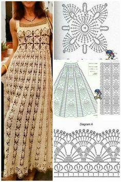 Crochet Skirts, Crochet Blouse, Crochet Clothes, Crochet Lace, Crochet Wedding Dress Pattern, Crochet Wedding Dresses, Crochet Woman, Crochet Fashion, Vintage Crochet